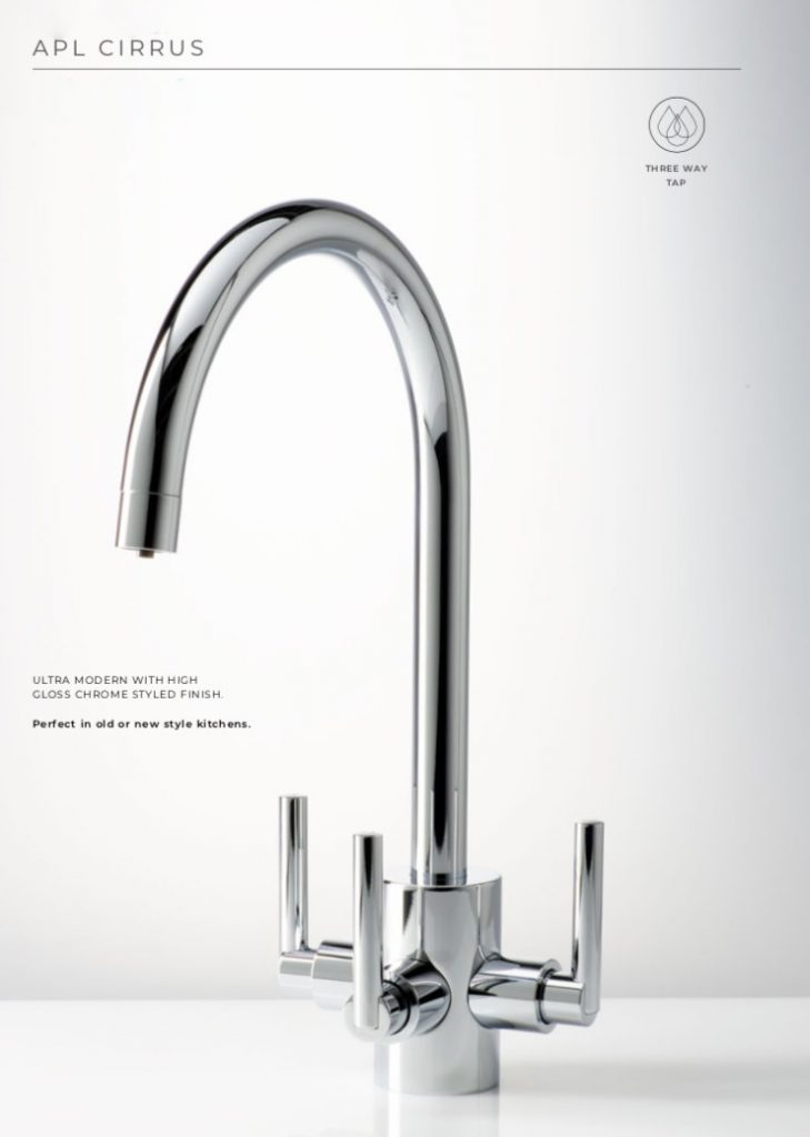 APL Three Way Taps Cirrus Chrome