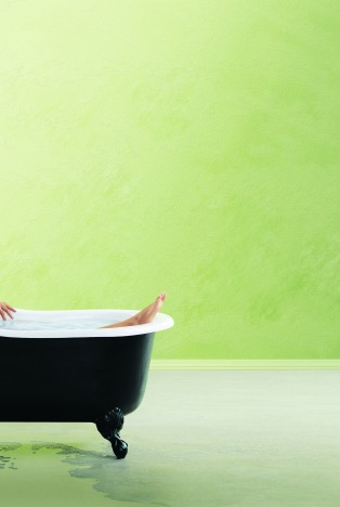 Person in a bath tub
