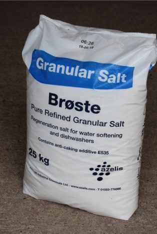 Bag of granular salt