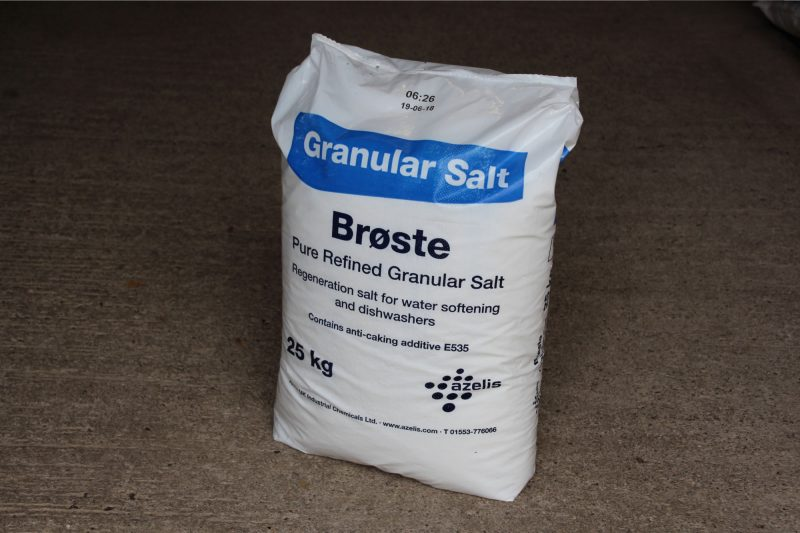 Bag of granular salt